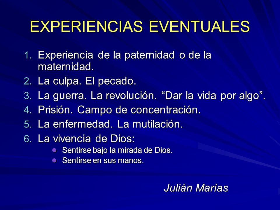 EXPERIENCIAS EVENTUALES