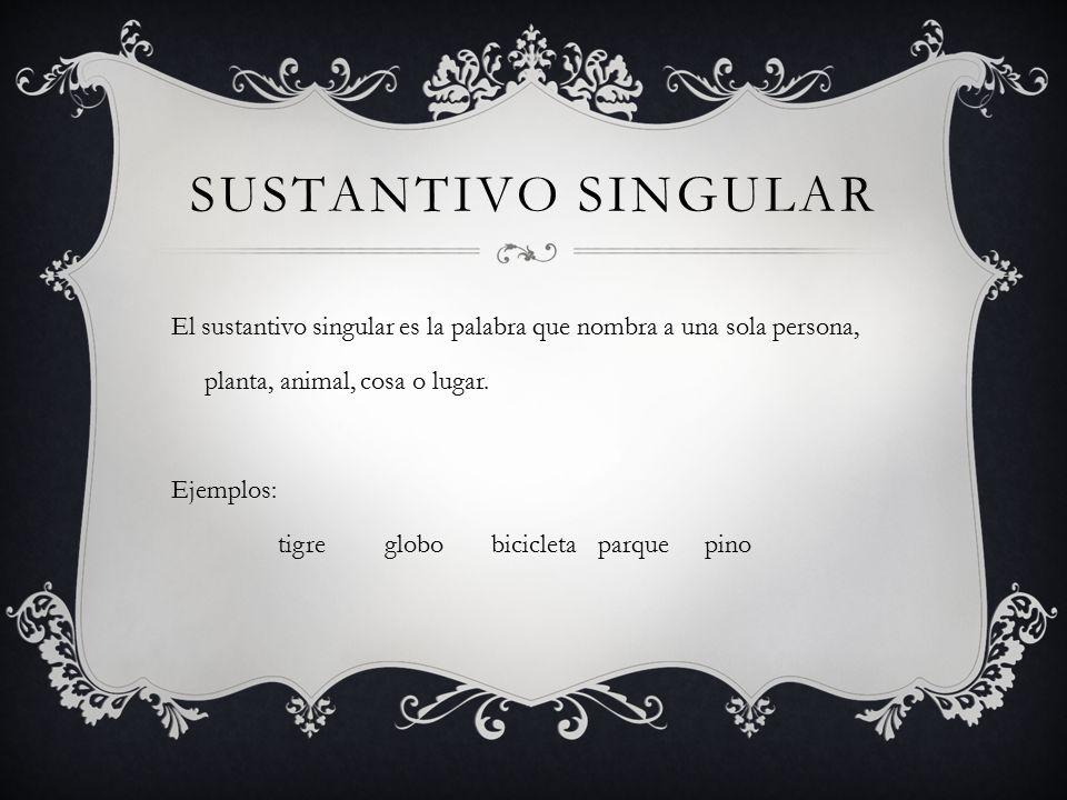 Sustantivo singular