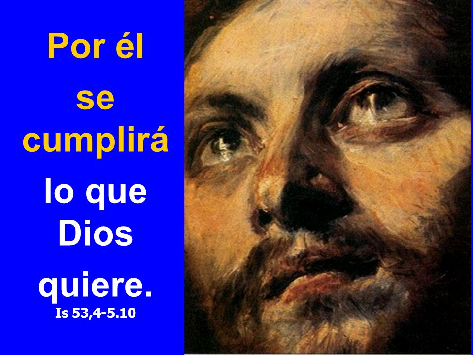 Por él se cumplirá lo que Dios quiere. Is 53,4-5.10