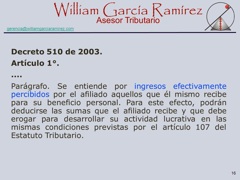 Decreto 510 de 2003. Artículo 1°. ....