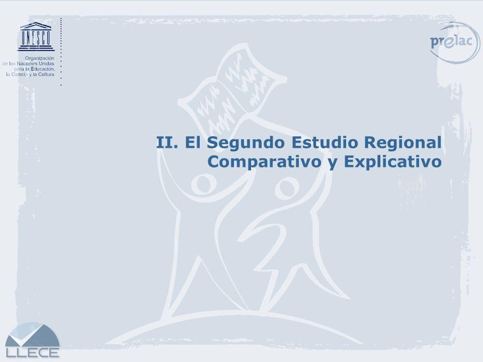 II. El Segundo Estudio Regional Comparativo y Explicativo