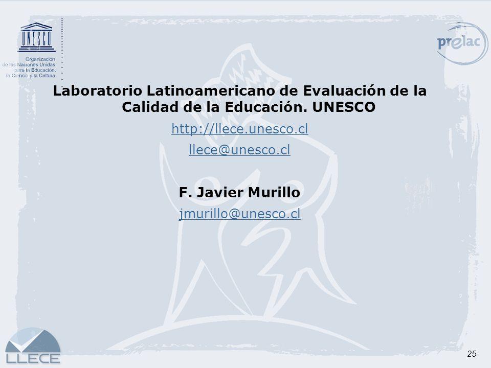 Laboratorio Latinoamericano de Evaluación de la Calidad de la Educación. UNESCO