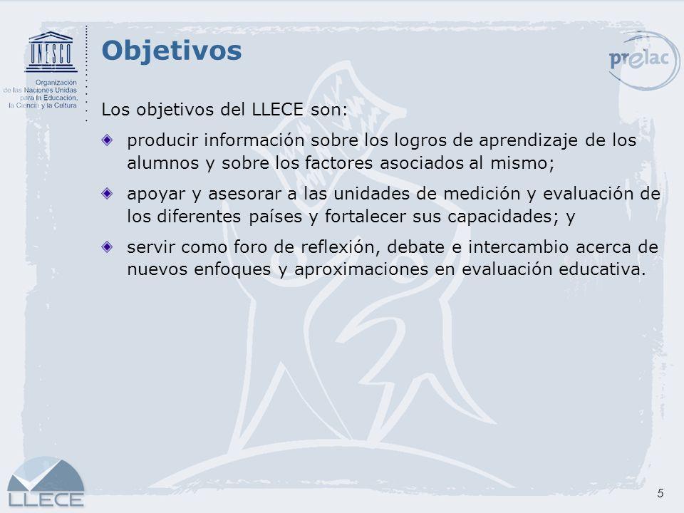 Objetivos Los objetivos del LLECE son: