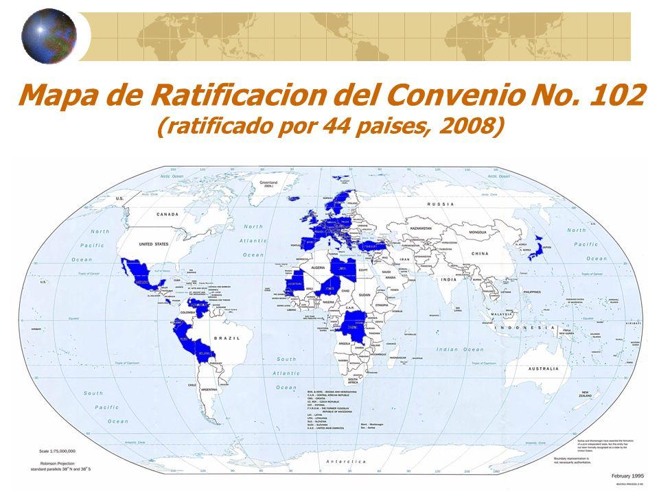 Mapa de Ratificacion del Convenio No