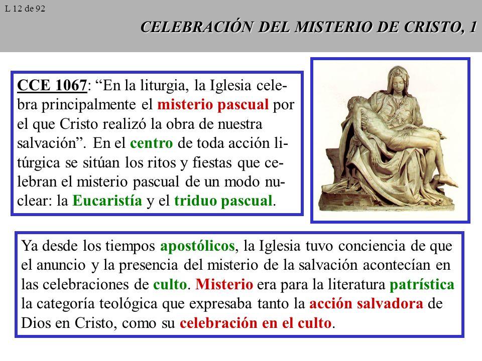 CELEBRACIÓN DEL MISTERIO DE CRISTO, 1