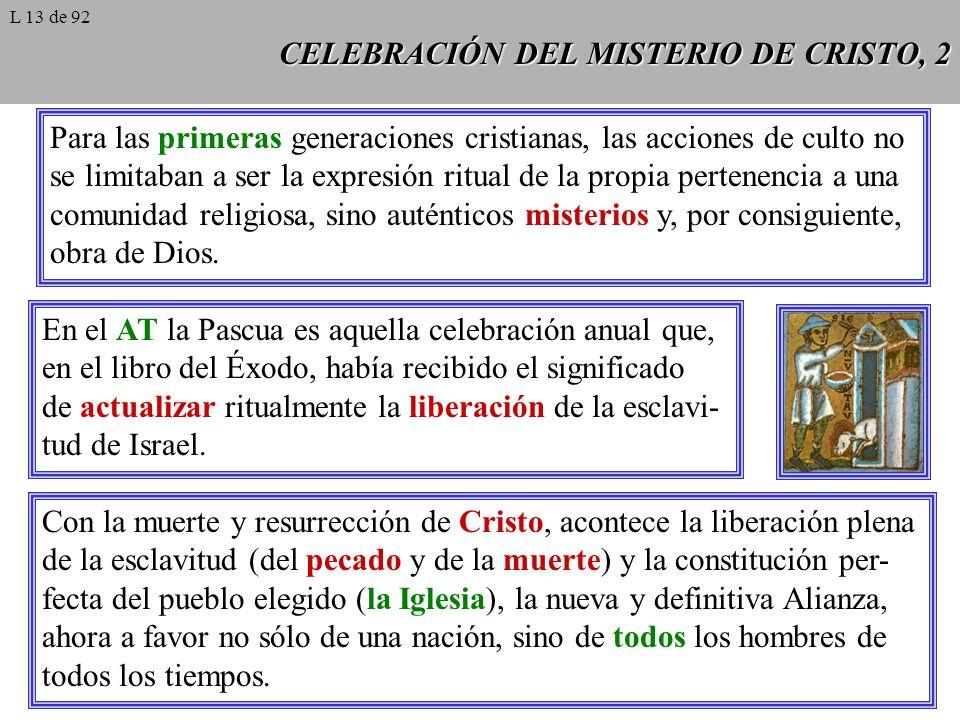 CELEBRACIÓN DEL MISTERIO DE CRISTO, 2