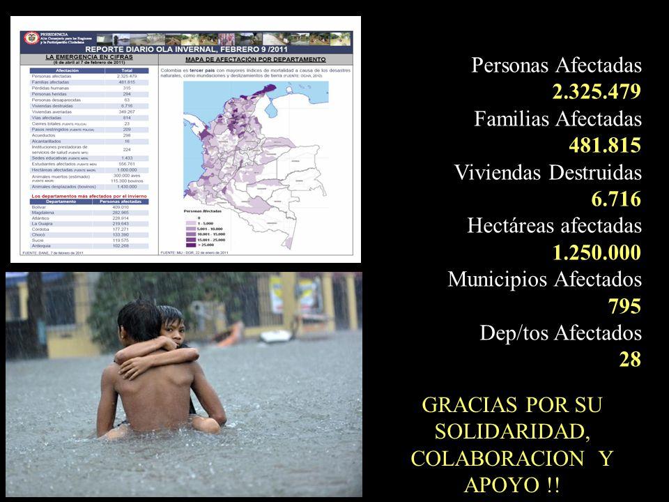 GRACIAS POR SU SOLIDARIDAD, COLABORACION Y APOYO !!