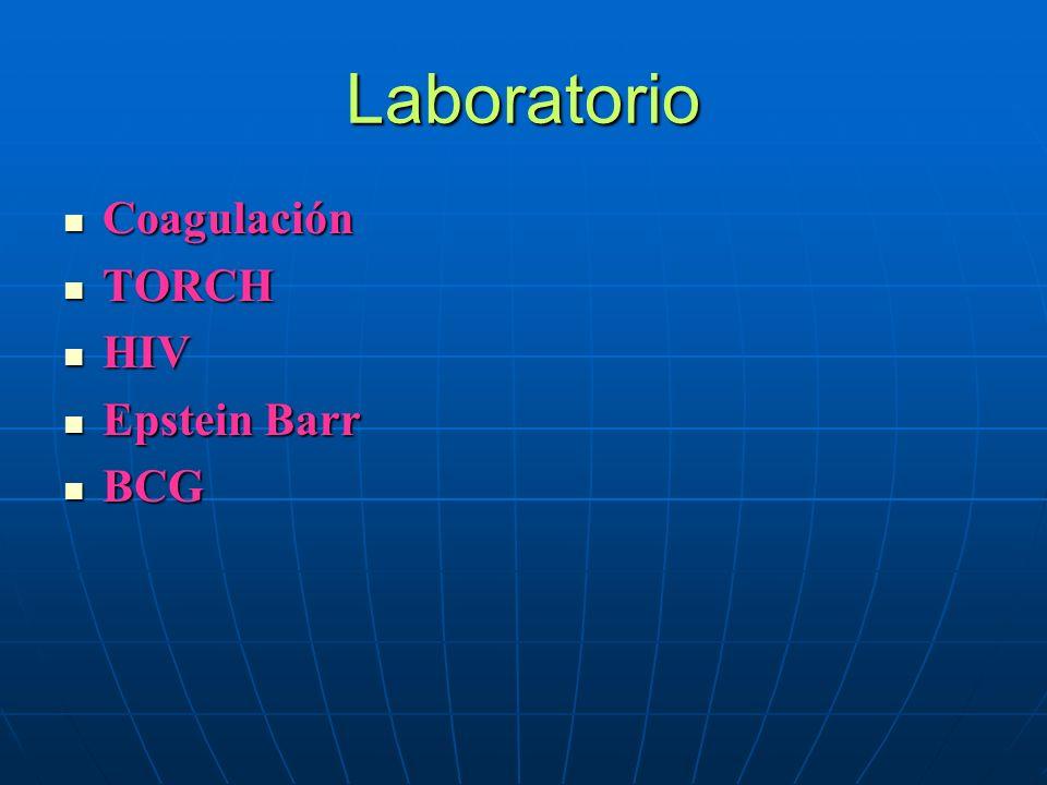Laboratorio Coagulación TORCH HIV Epstein Barr BCG