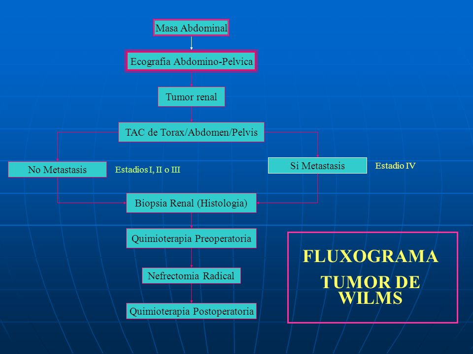 FLUXOGRAMA TUMOR DE WILMS