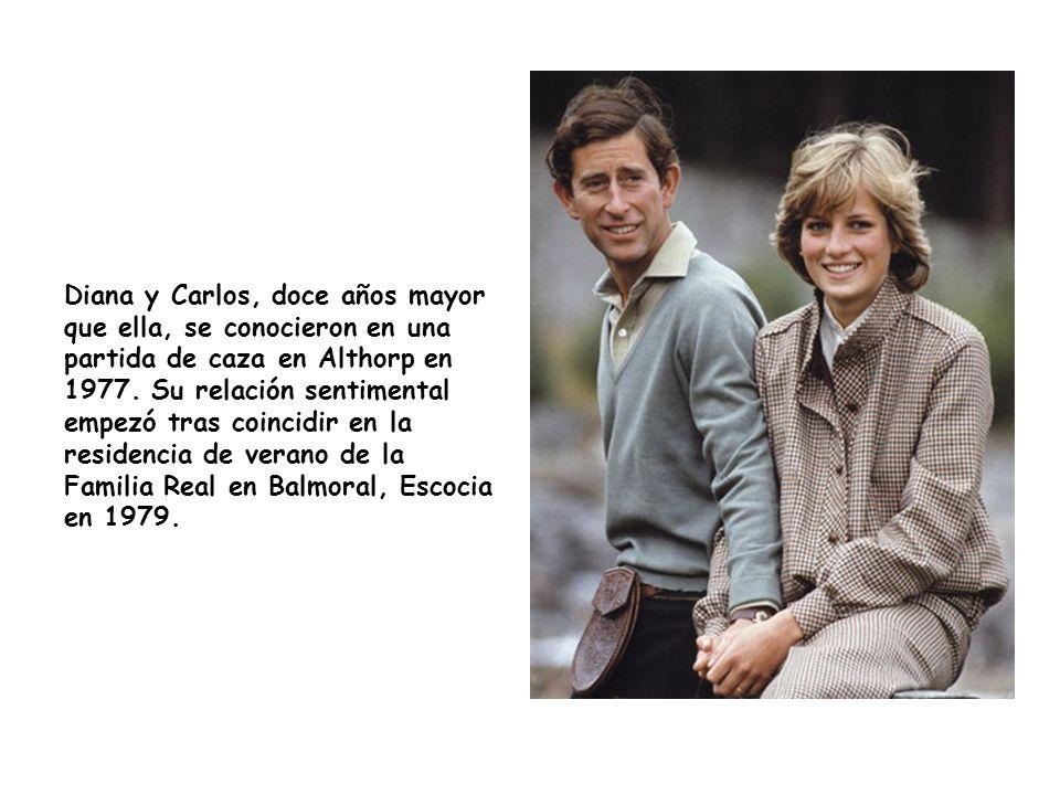 Diana y Carlos, doce años mayor que ella, se conocieron en una partida de caza en Althorp en 1977.