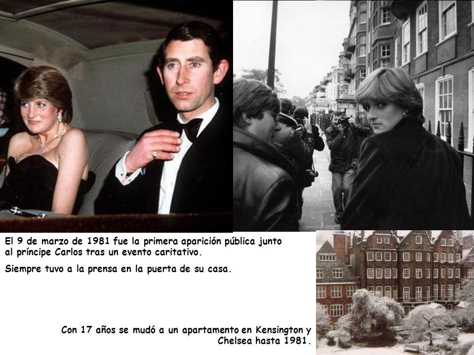 El 9 de marzo de 1981 fue la primera aparición pública junto al príncipe Carlos tras un evento caritativo.