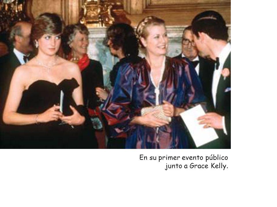 En su primer evento público junto a Grace Kelly.