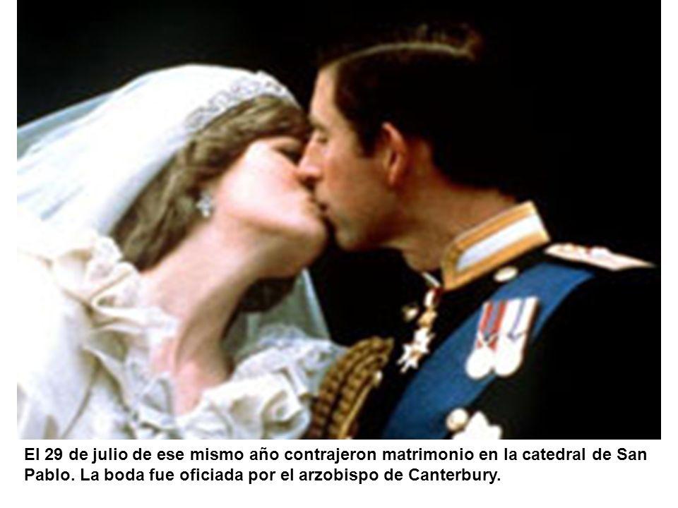 El 29 de julio de ese mismo año contrajeron matrimonio en la catedral de San Pablo.