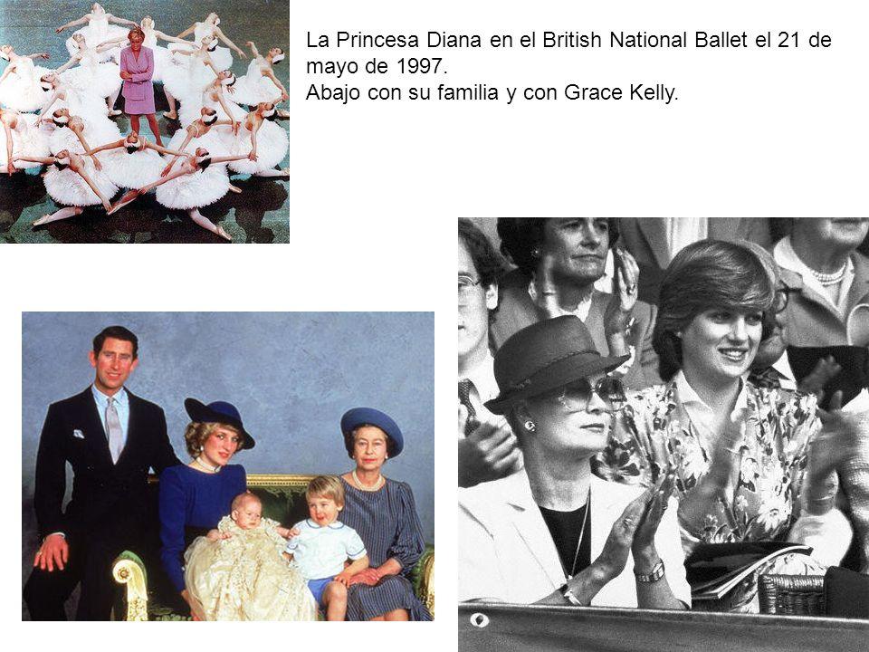 La Princesa Diana en el British National Ballet el 21 de mayo de 1997.