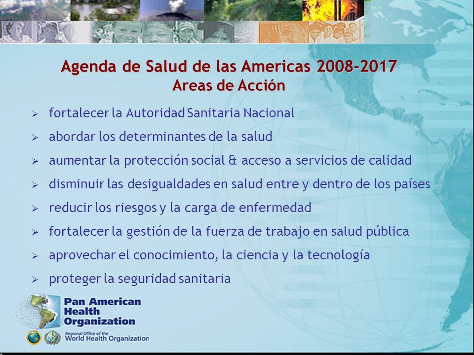 Agenda de Salud de las Americas 2008-2017 Areas de Acción