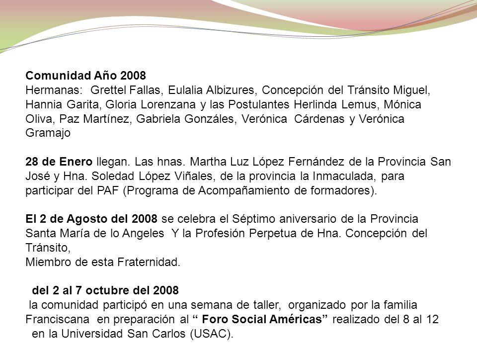 Comunidad Año 2008