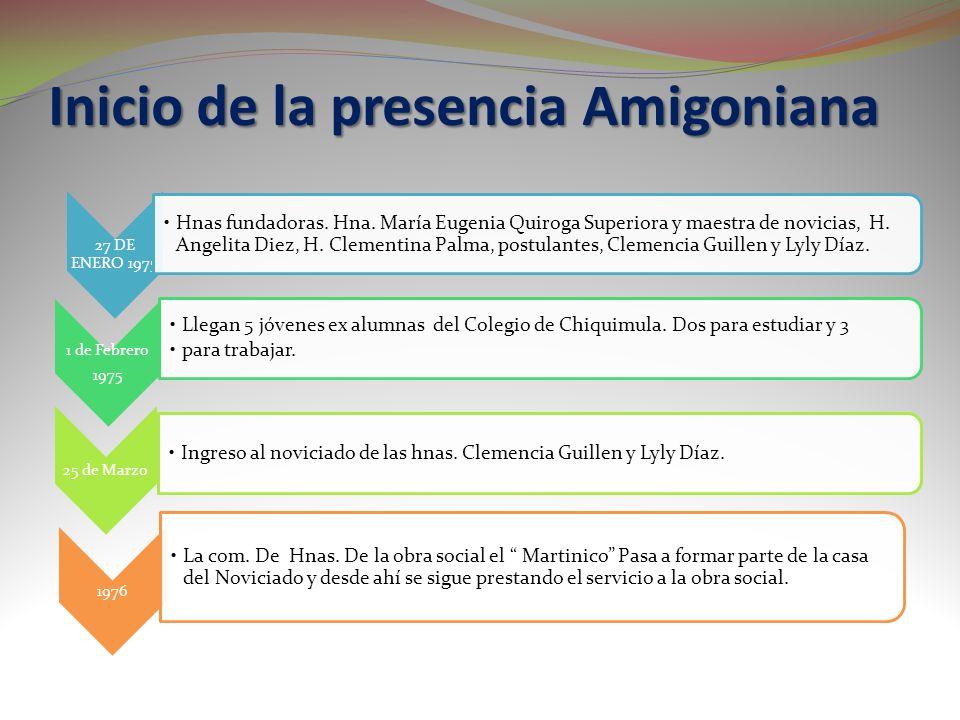 Inicio de la presencia Amigoniana