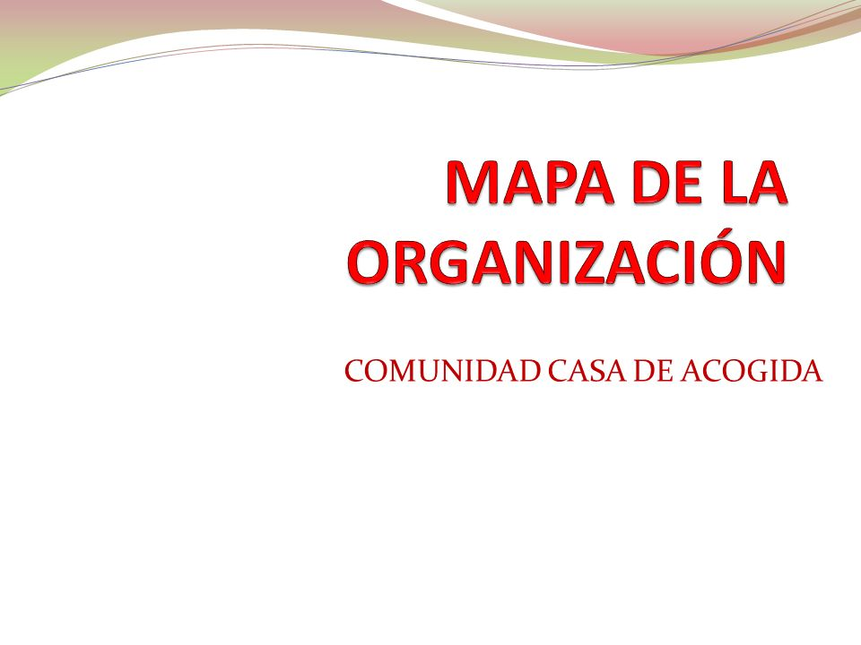 MAPA DE LA ORGANIZACIÓN