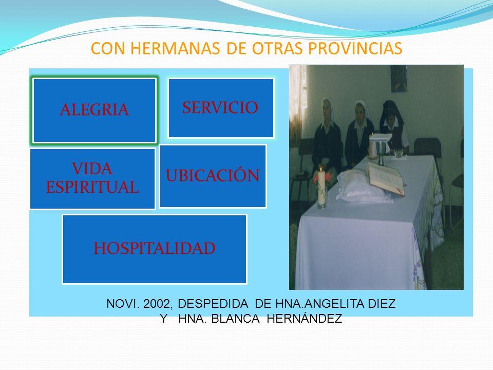 CON HERMANAS DE OTRAS PROVINCIAS