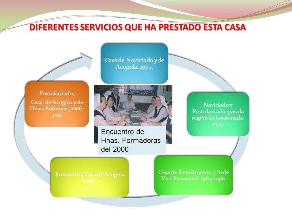 DIFERENTES SERVICIOS QUE HA PRESTADO ESTA CASA