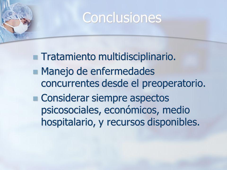 Conclusiones Tratamiento multidisciplinario.