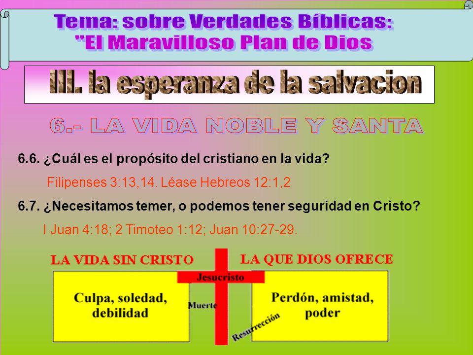 La Vida Noble Y Santa C Tema: sobre Verdades Bíblicas: