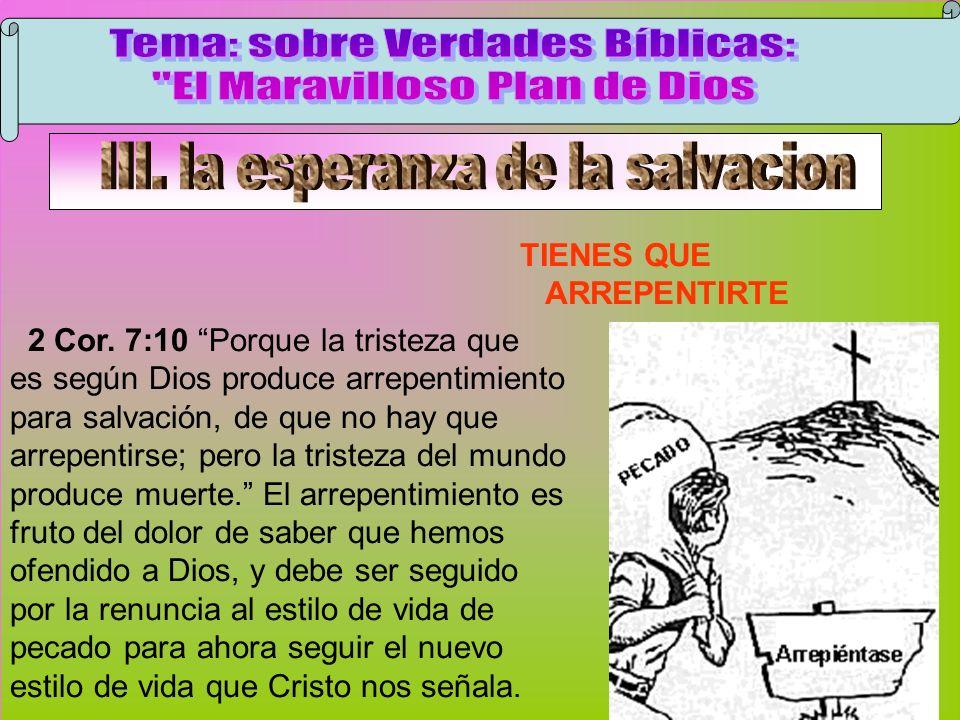 Arrepentimiento Tema: sobre Verdades Bíblicas: