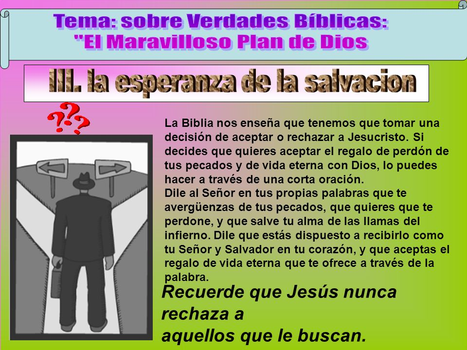 Jesús Nunca Rechaza Tema: sobre Verdades Bíblicas: