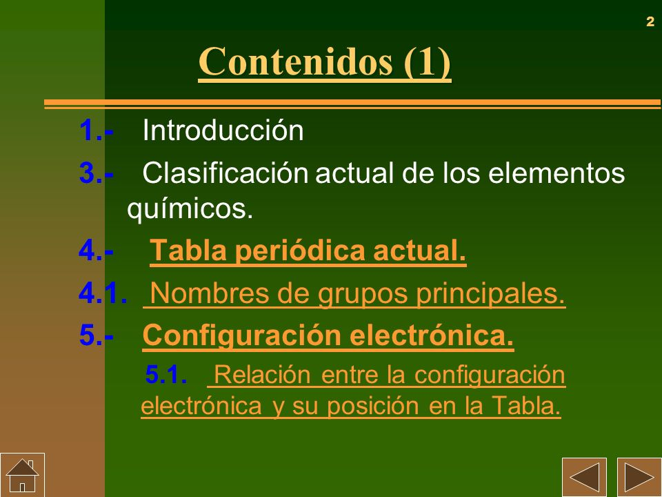 Contenidos (1) 1.- Introducción