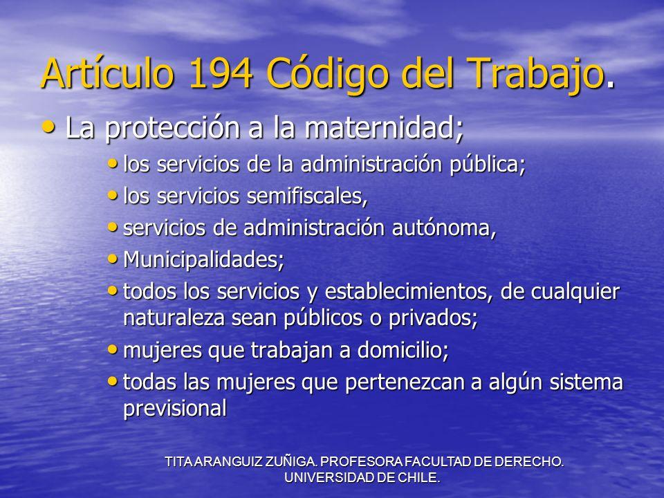 Artículo 194 Código del Trabajo.