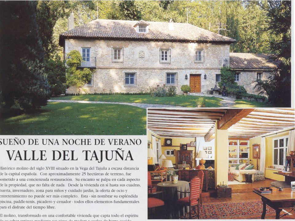 Una casa vieja en el interior, cerca de Madrid