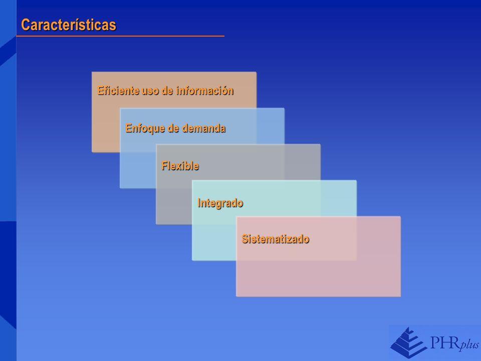 Características Eficiente uso de información Enfoque de demanda
