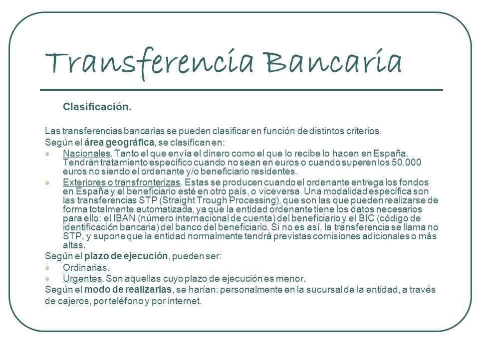 Recibo y transferencia bancaria ppt descargar for Transferencia bancaria