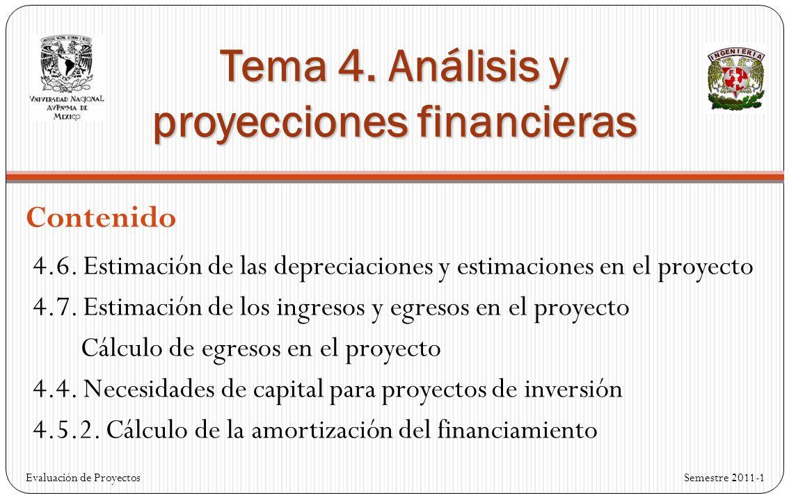 Tema 4. Análisis y proyecciones financieras