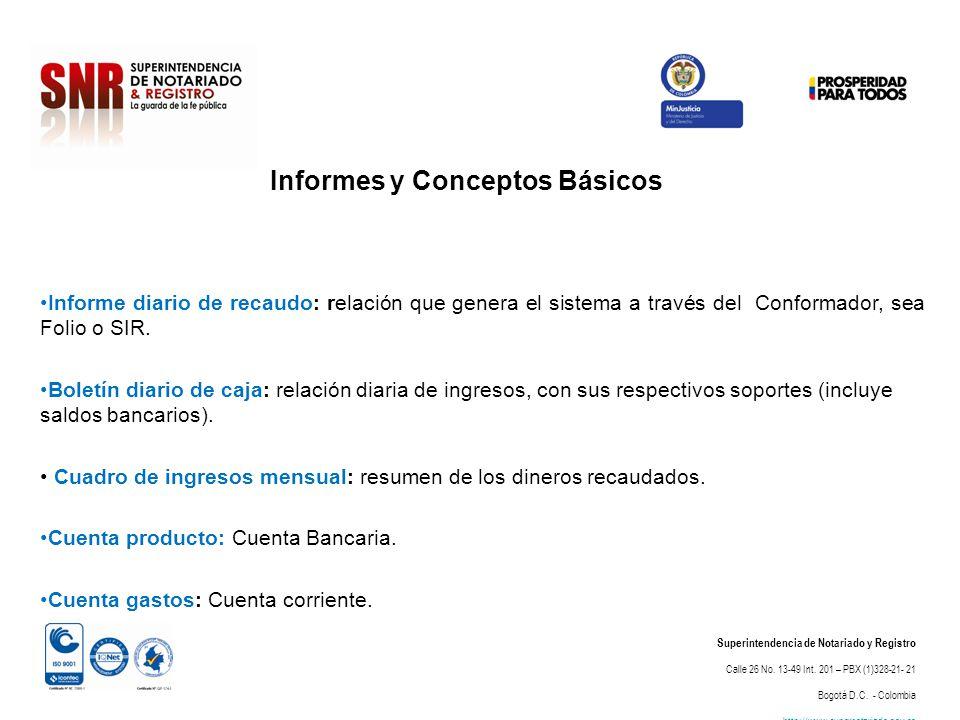 Informes y Conceptos Básicos