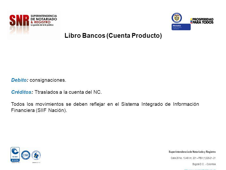Libro Bancos (Cuenta Producto)
