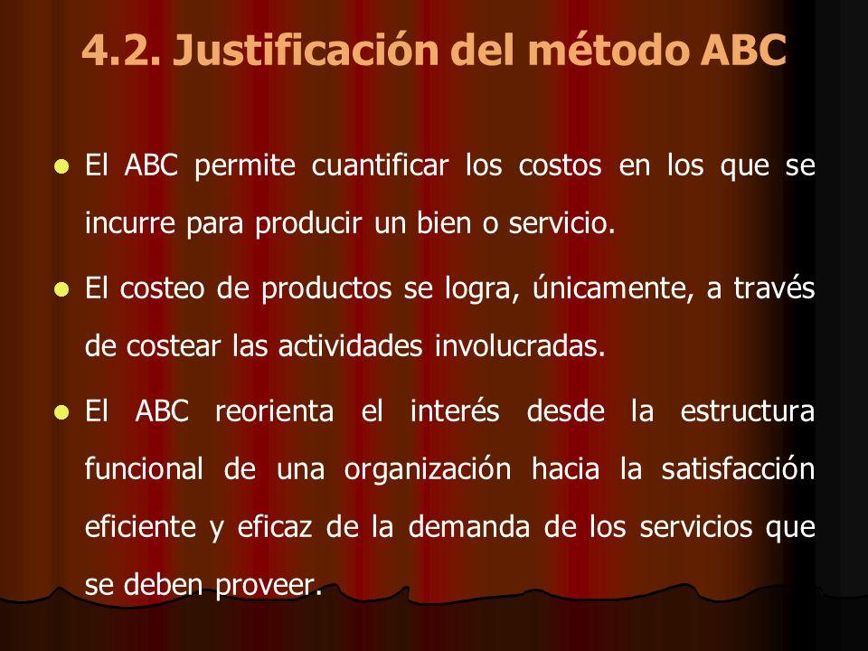 4.2. Justificación del método ABC