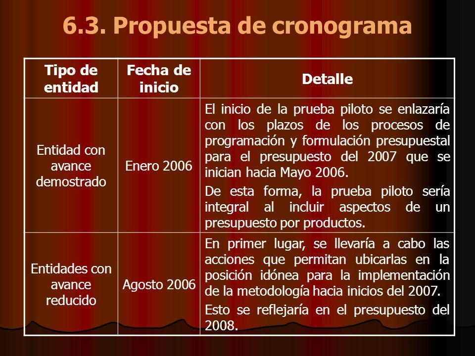 6.3. Propuesta de cronograma