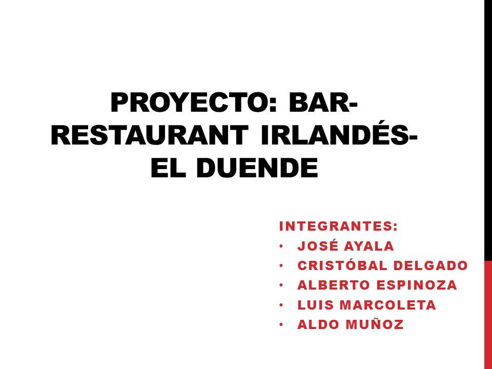 Proyecto bar restaurant irland s el duende ppt descargar - Proyecto bar cafeteria ...