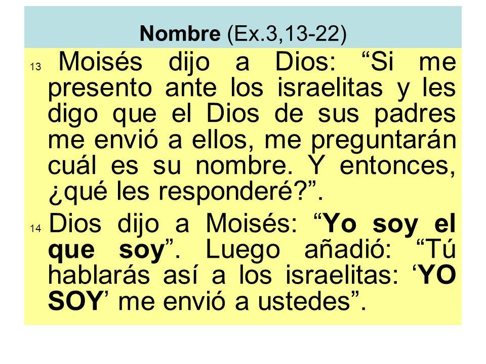 Nombre (Ex.3,13-22)