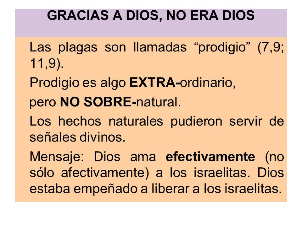 GRACIAS A DIOS, NO ERA DIOS