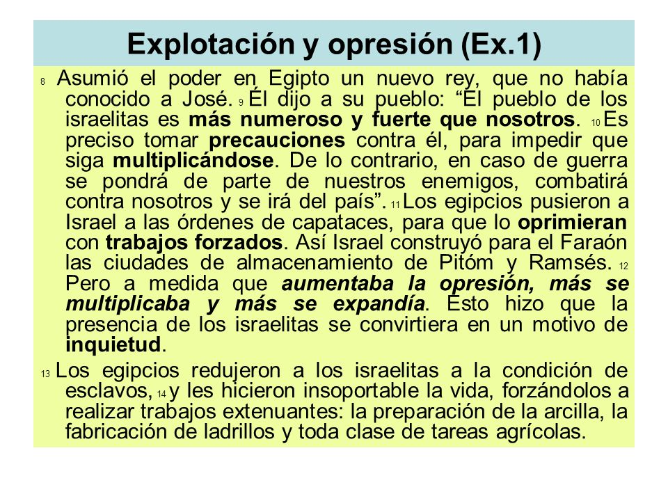 Explotación y opresión (Ex.1)