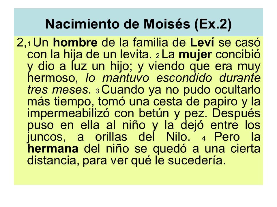Nacimiento de Moisés (Ex.2)
