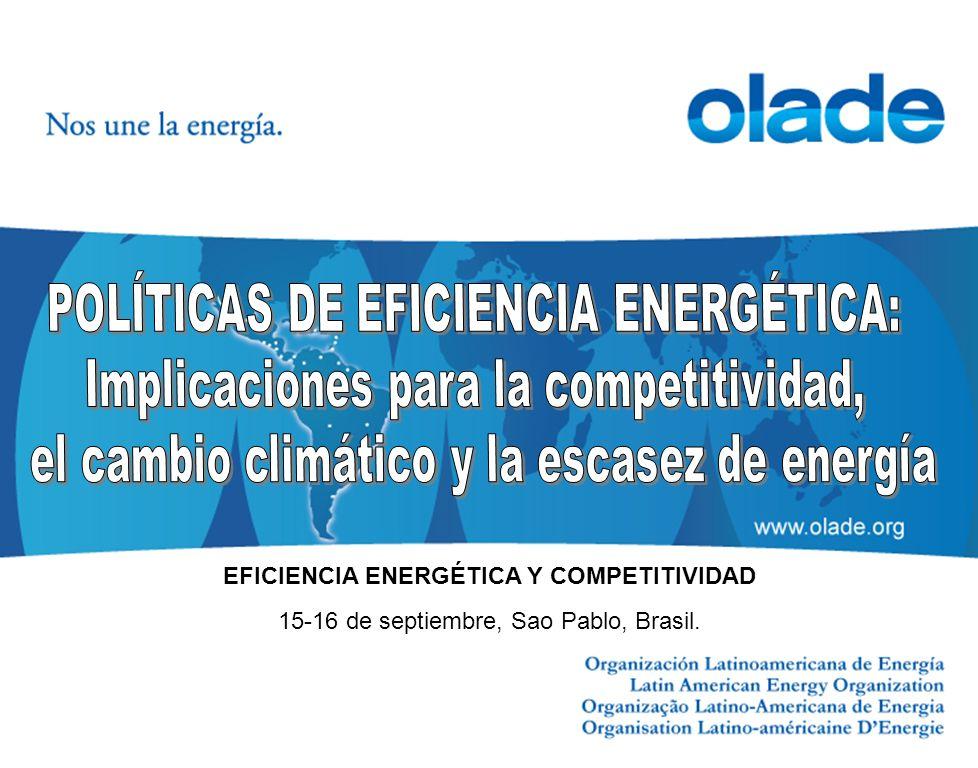 POLÍTICAS DE EFICIENCIA ENERGÉTICA: