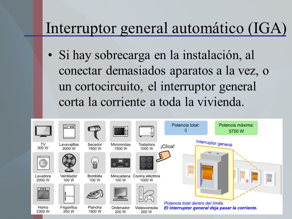 Interruptor general automático (IGA)