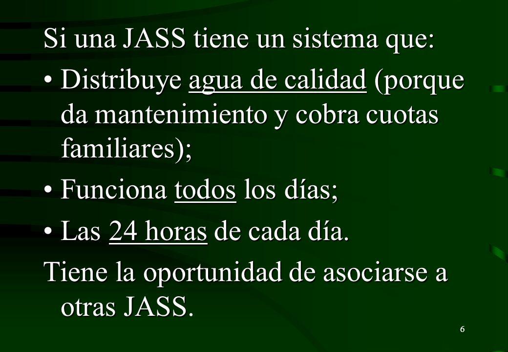 Si una JASS tiene un sistema que: