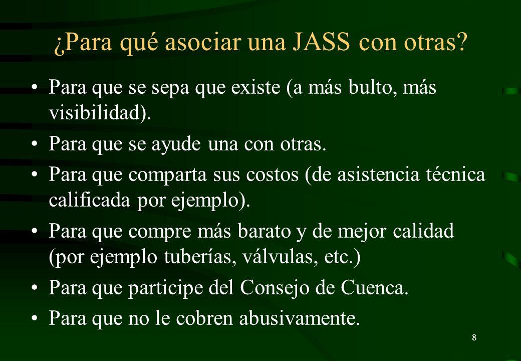 ¿Para qué asociar una JASS con otras