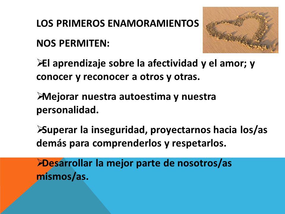 LOS PRIMEROS ENAMORAMIENTOS