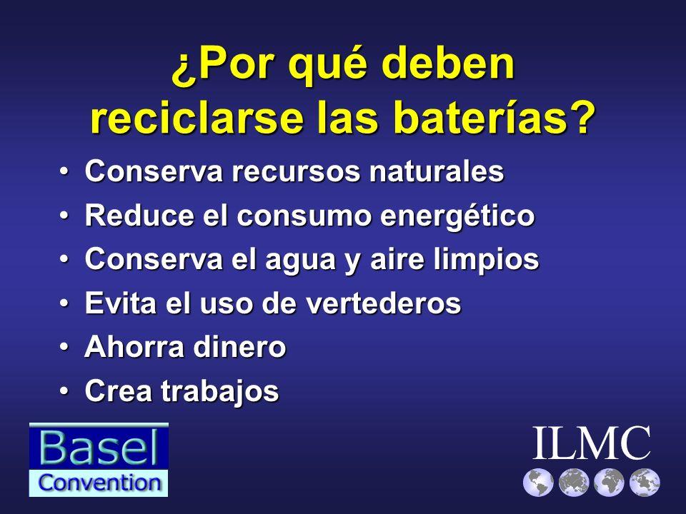 ¿Por qué deben reciclarse las baterías
