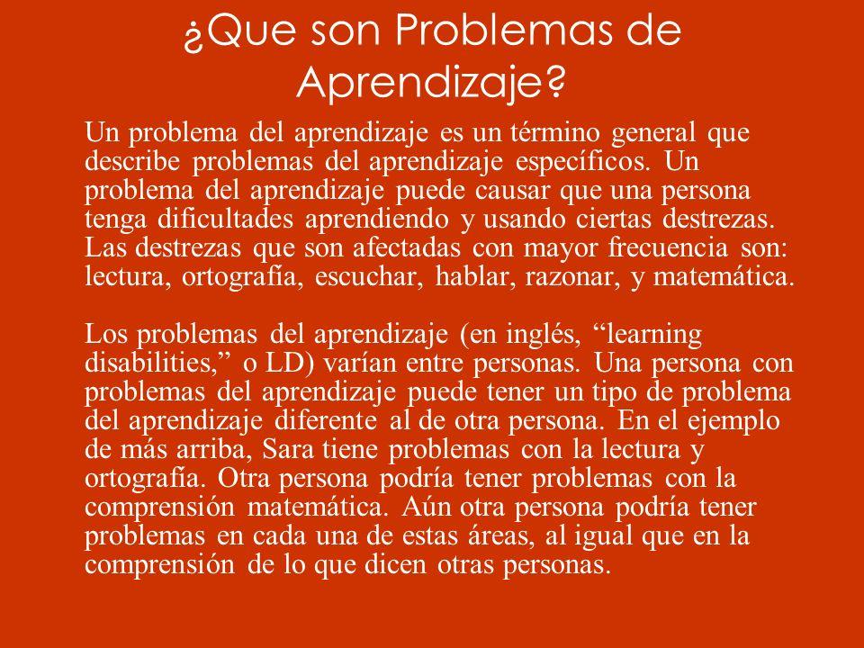 ¿Que son Problemas de Aprendizaje